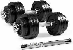 100 lb Combined Adjustable Dumbbell weights set with Dumbbell Connector Yes4ALL