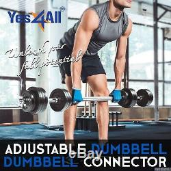 100lb Combined Yes4ALL Adjustable Dumbbell Weights Set with Dumbbell Connector