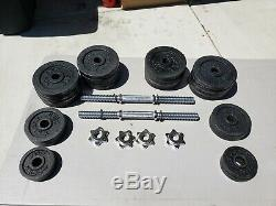 105lbs (52.5 pair) Adjustable Cast Iron Dumbbell Weight Set
