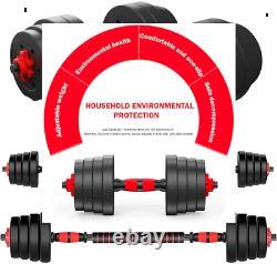 110lb Dumbbell Set Adjustable Dumbbells weights cap 552 50kg NEW Weight