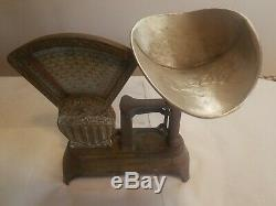 1910 Antique National Specialty Store Co. 2 lb Candy Scale Cast Iron Working
