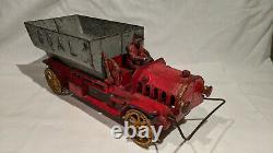 1915-1920's HUBLEY COAL DUMP TRUCK, MASSIVE 15.5 INCHES, 8 LB. 8.5 OUNCES