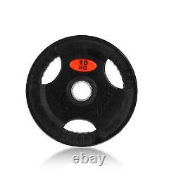 22lb2 Olympic Barbell Plates Cast Iron Weightlifting Weights Training 2 Pair