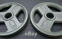 25 Lb Olympic 2 Weight Plates Set of 2 50lbs Total- Brand New Excellent Quality