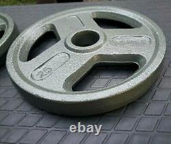 25 Lb Olympic 2 Weight Plates Set of 2 50lbs Total Pounds New Excellent Quality