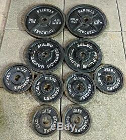 280lb Standard Barbell Olympic Weight Set 45lb 35lb 25lb 10lb FREE SHIPPING