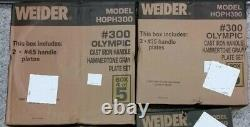 300 LB. OLYMPIC HAMMERTONE WEIGHT SET by WEIDER BRAND NEW IN BOXES