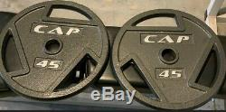 45 LB Weight Plates CAP OLYMPIC NEW 2 inch TOTAL 90 LBS