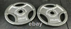 45lb Olympic Weight Plates- Pair-FITNESS GEAR- OLYMPIC GRIP PLATES-90LB TOTAL