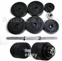 50lb Dumbbells Adjustable Weight Set Fitness GYM Home Cast Full Iron Dumbbells