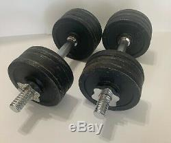 52.5 Lbs Adjustable Dumbbells Set (Extra Handles/Weights Included)