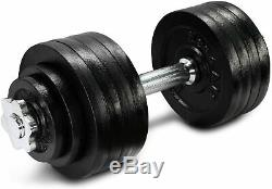 52.5lb total Adjustable Dumbbell with Cast Iron Weights YES4ALL