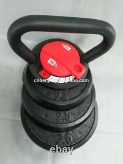 5-40LBS Adjustable Kettlebell Dumbbell Pounds Weight Fitness work out home