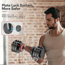5-Levels 6.6 to 44 lbs Adjustable Dumbbells Speedy Handle Gym Men/Women