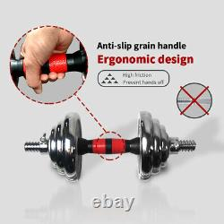66LB Dumbells Pair Gym Weights Dumbbell Body Building Free Weight Set Adjustable