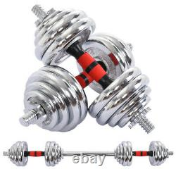 66lb Weight Dumbbell Set Adjustable Fitness GYM Home Cast Full Iron Steel Plate