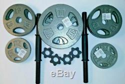 70 lb Adjustable Cast Dumbbell Weight Set CAP 5-10-15-20-25-35 FAST SHIPPING