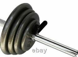Ader 45lbs regular Cast Iron black plates set with 47'' Hollow Curl Bar