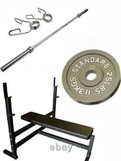 Ader Olympic Bench Press and Olympic 300 Lbs Gray Set