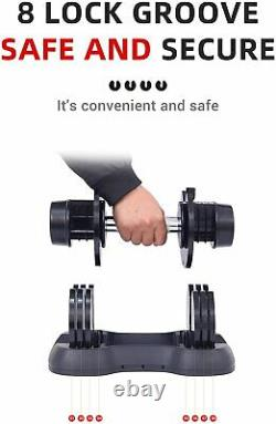 Adjustable Dumbbell 0525 Fitness Strength Training Workout Single Select 25 lbs