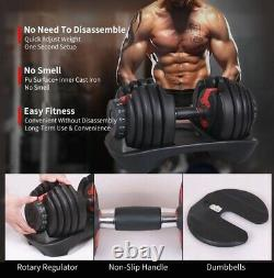 Adjustable Dumbbell Weight Select 552 lbs Fitness Workout Gym Dumbbells (Single)
