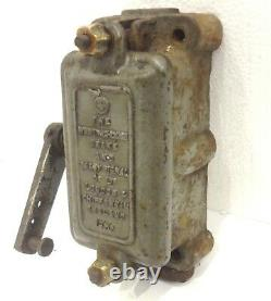 Antique 15 Lbs. Westinghouse Signal Railroad Train Switch Lever Works Cast Iron