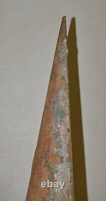 Antique 85 lb blacksmith forming 1/2 cone 35 tall collectible cast iron tool