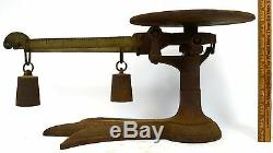 Antique FAIRBANKS CANDY 3-LB SCALE Cast Iron & Brass 3-TOE CROW'S FOOT! Crowfoot