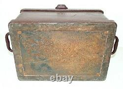 Antique Stagecoach STRONG BOX, Fire Proof Heavy 48 lbs Cast Iron Wagon Railroad