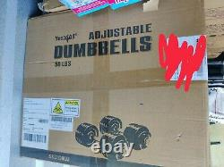 BRAND NEW Yes4All Adjustable Dumbbells 50 lb Dumbbell Weights (Pair) Ships Now