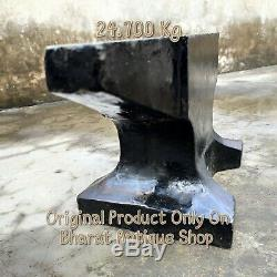 Black Very Heavy Iron Anvil BlackSmith Making Tool Collectible 54 lbs