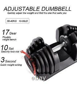 Brand New 180 Lb Adjustable Dumbbells Like Bowflex 1090 SelectTech, In Stock