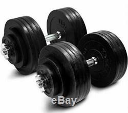 Brand New 200lb Adjustable Dumbbell Weight Set Weights Cast Iron Gym Workout