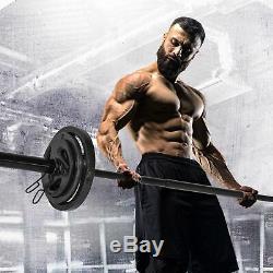 CAP 110LB Olympic 2 Weight Set 7' Foot Bar 25LB 10LB 5LB Plate Pairs Gym Home