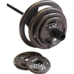 CAP 210 LB Olympic Weight Set with Bar- Olympic Plates with Barbell FAST SHIP