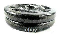 CAP 25 LB Olympic 2'' Barbell Weight Plates Set of 2 Weights 50lbs Total New