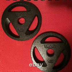 CAP 2 25 Pounds lbs 2 Olympic Weight Plate Set Barbell Weights 50 lbs Total