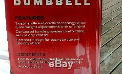 CAP 50 LB Single Adjustable Dumbbell 5 to 50 LBS Similar To Bowflex 552 New