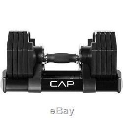 CAP 50 LB Single Adjustable Dumbbell Weight Adjust-A-Bell