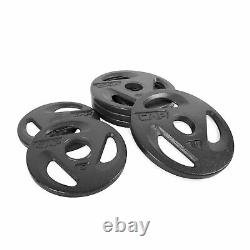 CAP 50 lb Olympic Weight Plate Set (4) 10 lb Plates (2) 5lb Plates 2 Hole NEW