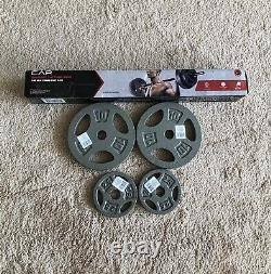 CAP 5 Barbell Bar Weight Set With Lock Collars and 25 Lbs Standard Weight Plates