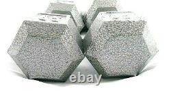 CAP 65 LB Dumbbell Pair Cast Iron Hex Dumbbells Weights Set of 2 New
