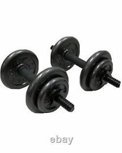 CAP Adjustable 40LB Dumbbell Set Bar & Plates Weight Lifting Home Gym Workout