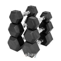 CAP Barbell Coated Hex Dumbbell pairs singles 10lb 15lb 20lb 25lb 30lb 35lb 40lb