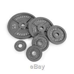 CAP Barbell Olympic Weight 2 Standard Plate 2.5lbs 5lbs 10lbs 25lbs 35lbs 45lbs