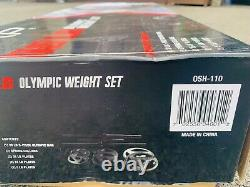 CAP Barbell Olympic Weight Set, 110 LBS with Plates Ships FAST