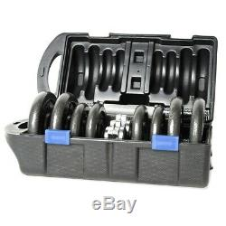 CAP Barbell cast iron 40 lb Adjustable Dumbbell weight Set with Case (IN HAND)