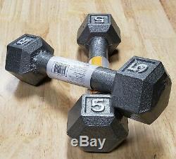 CAP Cast Iron Hex Dumbbell (Pair) Select Weight 2lb 5lb 8lb 12lb
