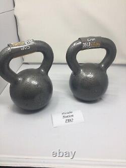 Cap 35 Kettlebell PAIR 70lbs TOTAL Cast Iron Weight Weider