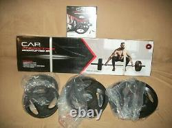 Cap Olympic 80lb Weightlifting Bar & Plate Set-FAST FREE SHIPPING